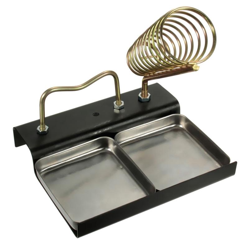 double metal base soldering iron gun holder stand mount support station sponge alex nld. Black Bedroom Furniture Sets. Home Design Ideas