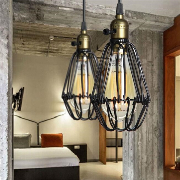 Ceiling Lamp Kitchen: Industrial Retro Vintage Kitchen Bar Shop Black Pendant