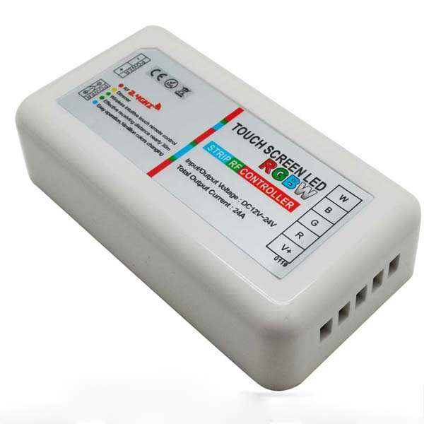 LED Controller 2 4G RF Touch Screen Remote Control 6A 4 Channel DC12V-24V  For RGBW Strip Light