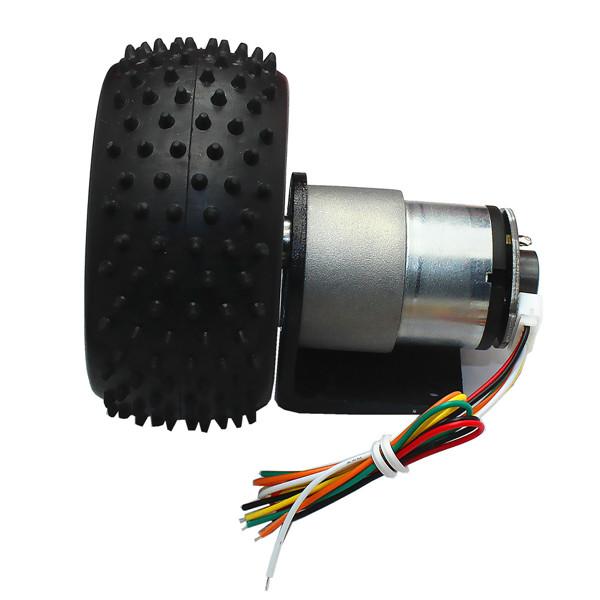 12v 320rpm 12v 107rpm 6v 160rpm dc gear motor encoder motor with mounting bracket and wheel. Black Bedroom Furniture Sets. Home Design Ideas