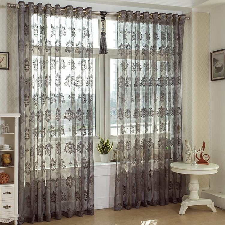 2 Panel Breathable Voile Sheer Curtains Bedroom Balcony