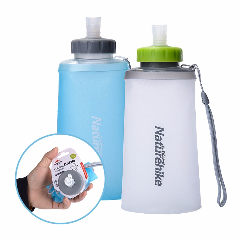 Portable Water Bottle : Naturehike silicone folding water bottle outdoor sports
