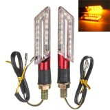 2pcs LED Turn Signal Motorcycle Light Amber Blade Lamp Indicator Blinker
