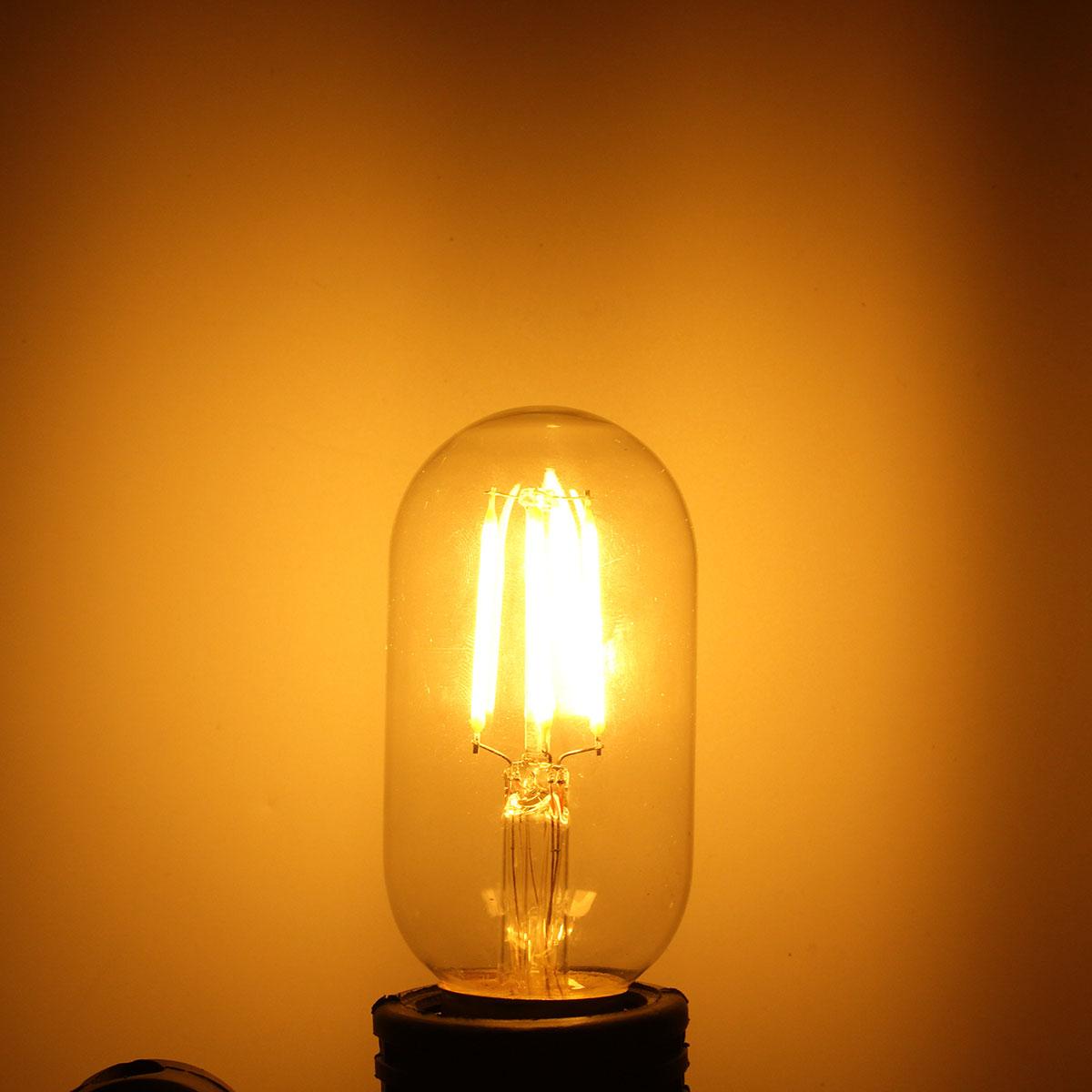 dimmable e27 e26 t45 4w warm white cob led filament retro edison led bulbs 110v 220v. Black Bedroom Furniture Sets. Home Design Ideas