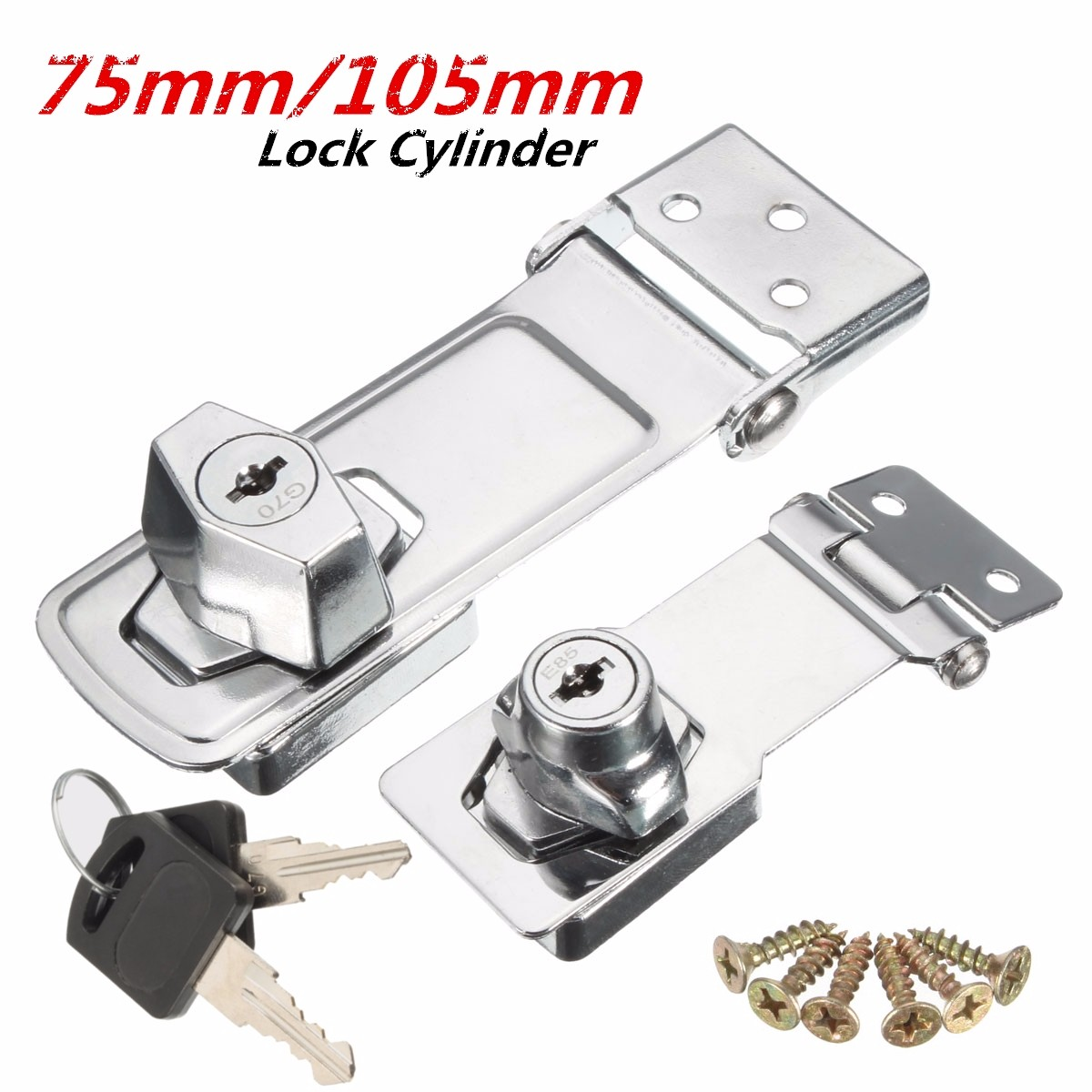 Locking cylinder hasp staple garage gate door lock padlock for Door key design