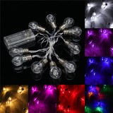 1.5M Colorful 10 LED Battery String Lights Bulbs Lamps Garden Wedding Party Fairy Christmas Decor