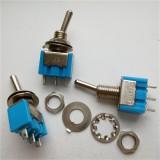 Wendao MTS-102 ON/ON SPDT AC 125V 6A 3 Pins Toggle Rocker Switch 10pcs