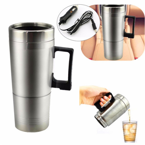Portable Coffee Maker For The Car : 12V 300ml Portable in Car Coffee Maker Tea Pot Vehicle Thermos Heating Cup Lid Alex NLD
