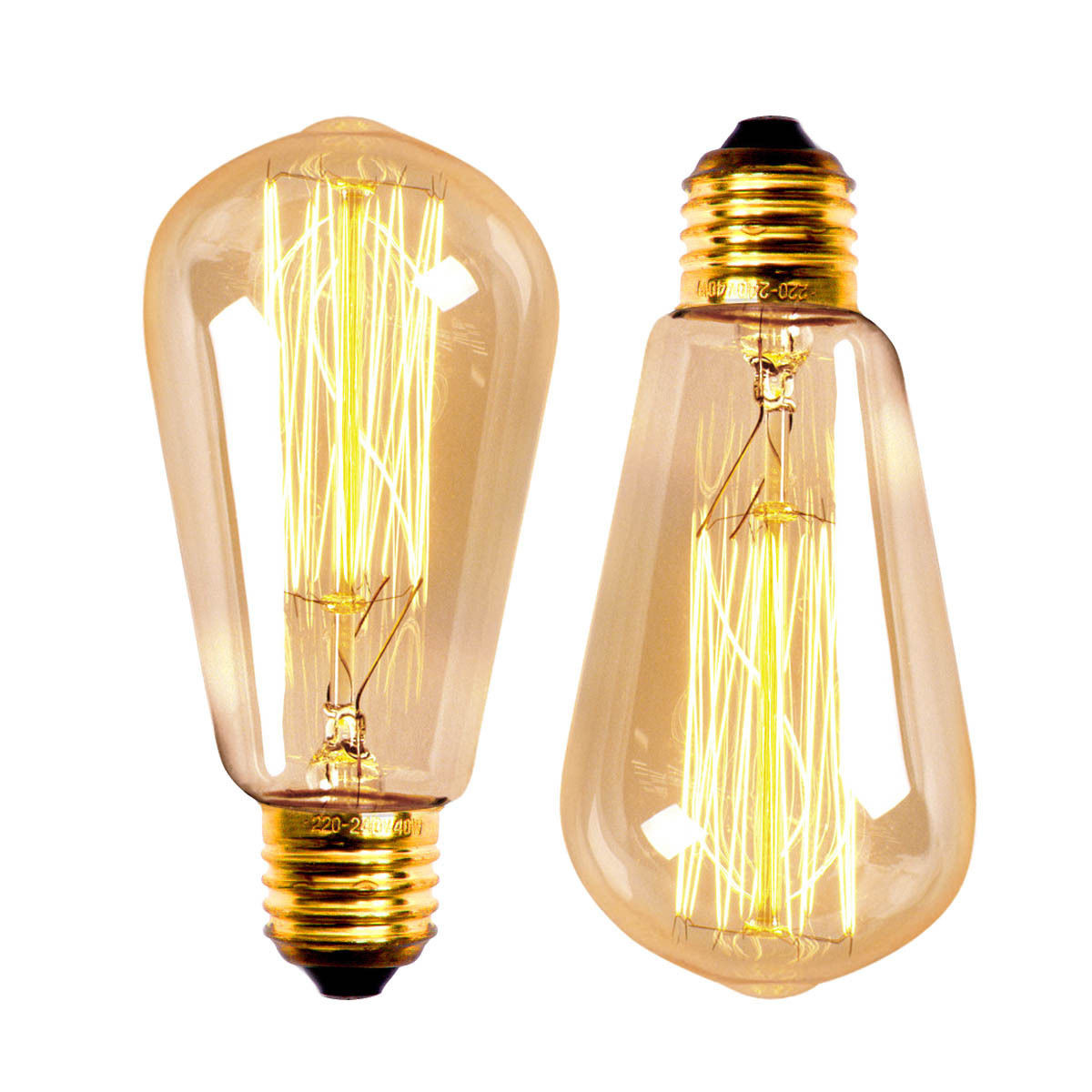 E27 60w St58 Edison Bulb Antique Filament Lamp Retro Vintage Light 220v 110v Alex Nld