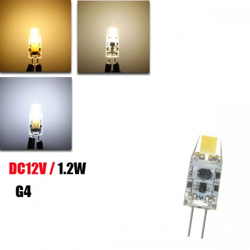 G4 1.2W LED Bulb 120Lm COB Pure White Warm White Natural White Light Lamp Bulb DC12V