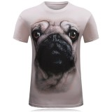 Mens 3D Animal Pattern Printing Plus Size Casual Personality Short Sleeve T-shirt