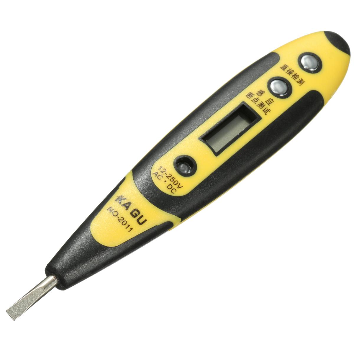 Voltage Tester Pen : V ac dc digital voltage detector tester pen led