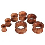 8mm-20mm 1pc Wooden Tunnels Ear Gauges Plugs Hollow Expander