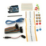 UNO R3 With Mini Breadboard LED Jumper Resistor Kit For Basic Arduino Starter