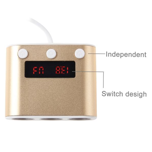5V 2 4A & Quick Charge 2 0 USB Port Triple Cigarette