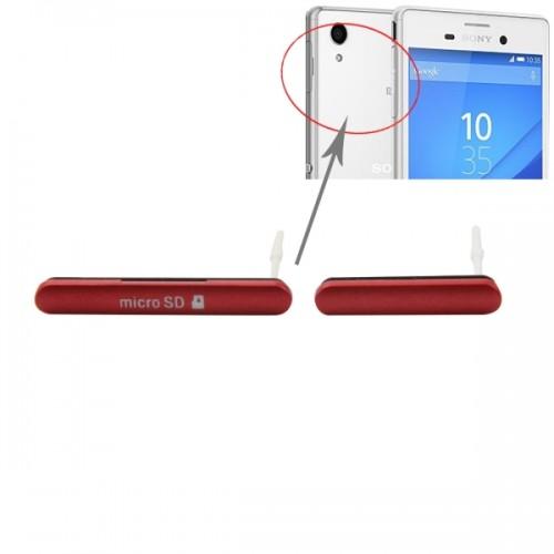 Replacement for Sony Xperia M4 Aqua Single SIM Version Anti-Dust Plug (Micro SD Card Port Dust Plug + USB Port Dust Plug) (Red)
