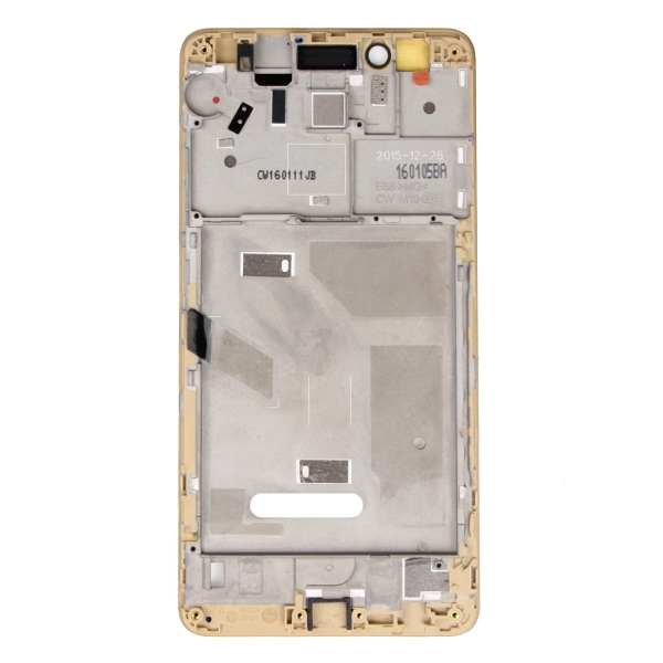 Replacement for Huawei Honor 5X Front Housing LCD Frame Bezel Plate (Gold). 330315350515a2