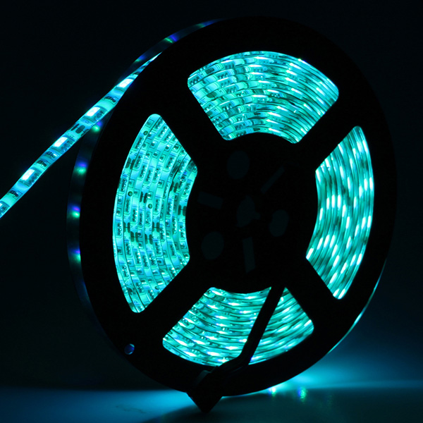 5M 5050 RGB Waterproof 300 LED Flexible Rope Strip Light + 24 Key Controller + 12V Power Adapter