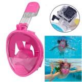 NEOPine Kids Diving Equipment Full Face Free Breathing Design Diving Mask for GoPro HERO4 /3+ /3 /2 /1 (Pink)