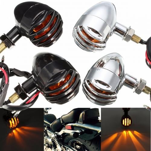 2pcs 12V Amber Motorcycle Turn Signal Indicator Lights Lamp For Harley
