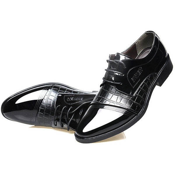 lace up artificial leather formal shoes soft sole