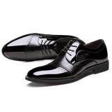Men Lace Up Artificial Leather Formal Shoes Soft Sole Business Shoes