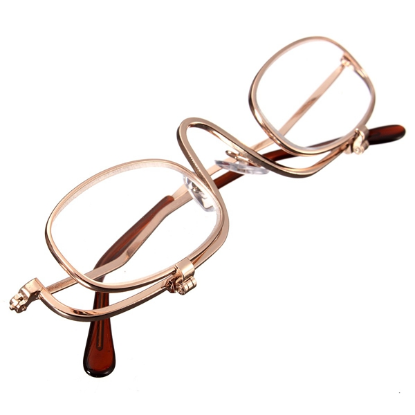 magnifying makeup reading glasses eye spectacles flip