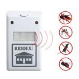 RIDDEX 220V Pest Repelling Aid Electronic Ultrasonic Rat Mouse Repellent Anti Repeller, EU Plug (White)