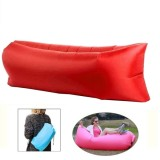 Inflatable Lounger Nylon Fabric Compression Air Bag Sofa for Beach / Travelling / Hospitality / Fishing, Size: 185cm x 75cm x 50cm, Normal Quality (Red)