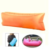Inflatable Lounger Nylon Fabric Compression Air Bag Sofa for Beach / Travelling / Hospitality / Fishing, Size: 185cm x 75cm x 50cm, Normal Quality (Orange)