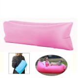 Inflatable Lounger Nylon Fabric Compression Air Bag Sofa for Beach / Travelling / Hospitality / Fishing, Size: 185cm x 75cm x 50cm, Normal Quality (Pink)
