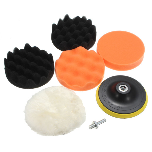 Automotive 4 Pcs 4/5/6/7 inch Car Polishing Sponge Foam Pads Buffing Wax Polisher Set