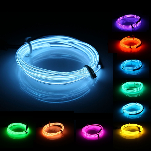 Led String Lights For Cars : 1M EL Led Flexible Soft Tube Wire Neon Glow Car Rope Strip Light Xmas Decor DC 12V Alex NLD