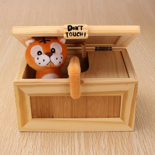 Toys Geek Gadgets : Pre assembled useless box cute tiger gimmicky fun geek