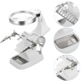 Multifunctional Welding LED Magnifier Helping Hand Soldering Iron Stand Magnifying Lens Magnifier Clamp Tool