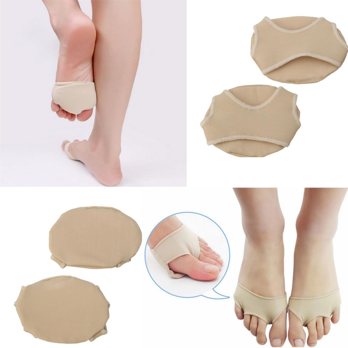 1Pair Footful Ball Spandex Foot Gel Pads Cushion Forefoot