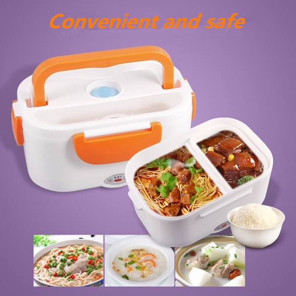 415922c7130f 1.05L 12V Portable Car Electric Heating Insulation Lunch Boxes Food Warmer  Container
