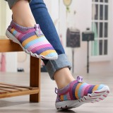 Women Shoes Summer Mesh Breathable Soft Casual Slip On Low Top Fashion Sport Shoes