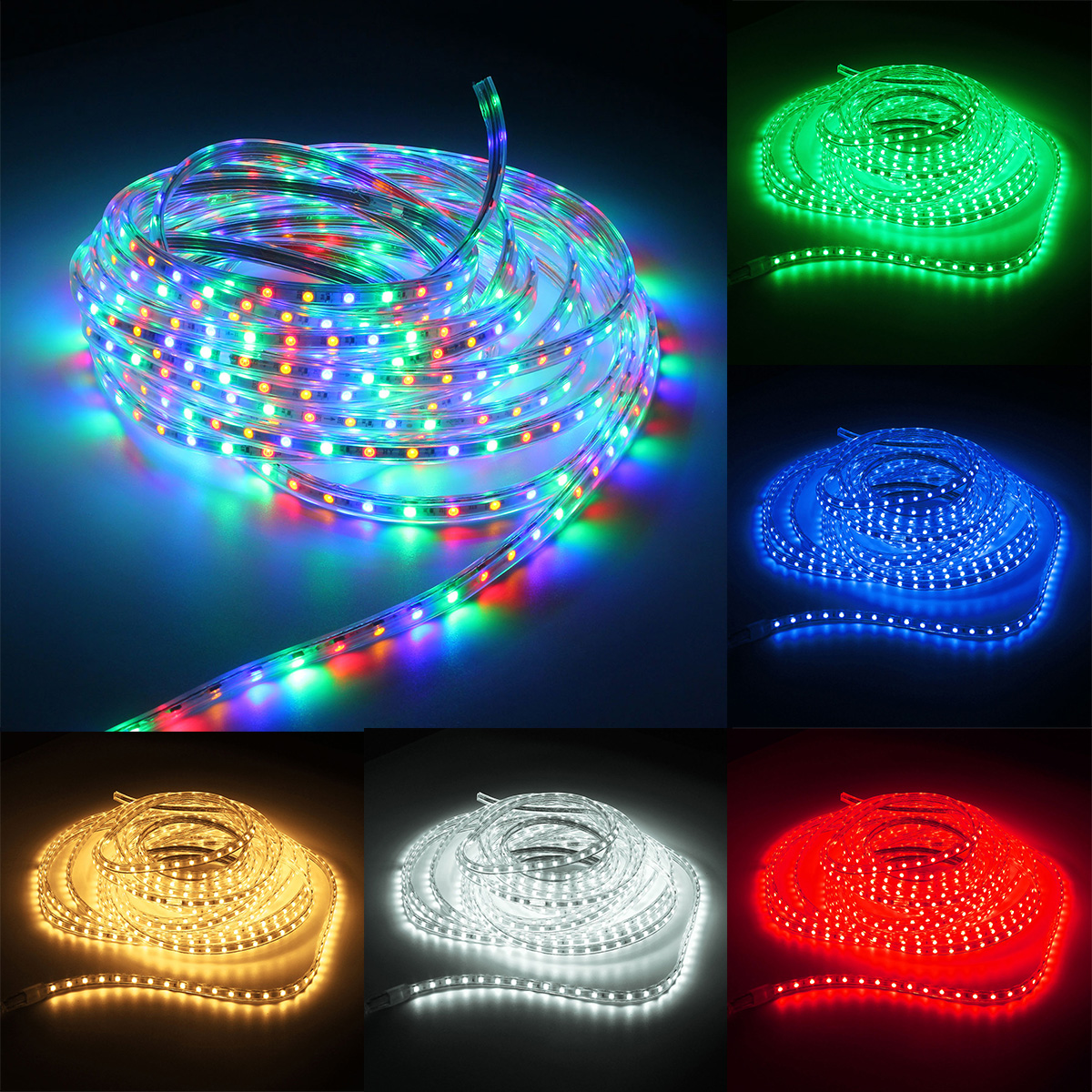 Outdoor Waterproof Tape Lights: 220V 10M 5050 LED SMD Outdoor Waterproof Flexible Tape