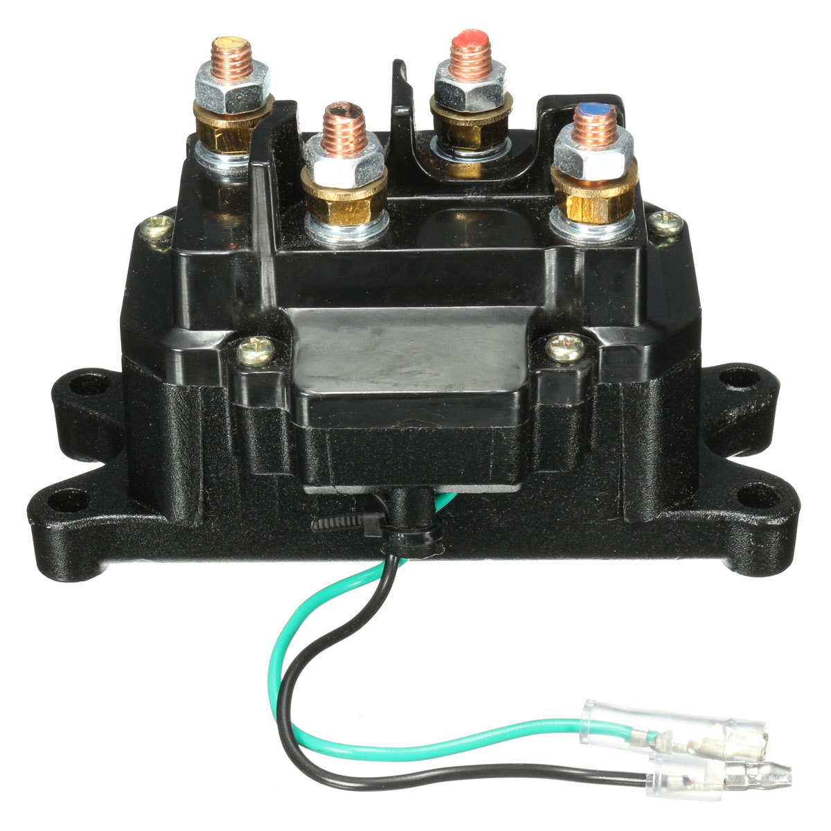 12v Solenoid Relay Contactor Winch Rocker Thumb Switch For Atv Utv on 12v rocker switch wiring