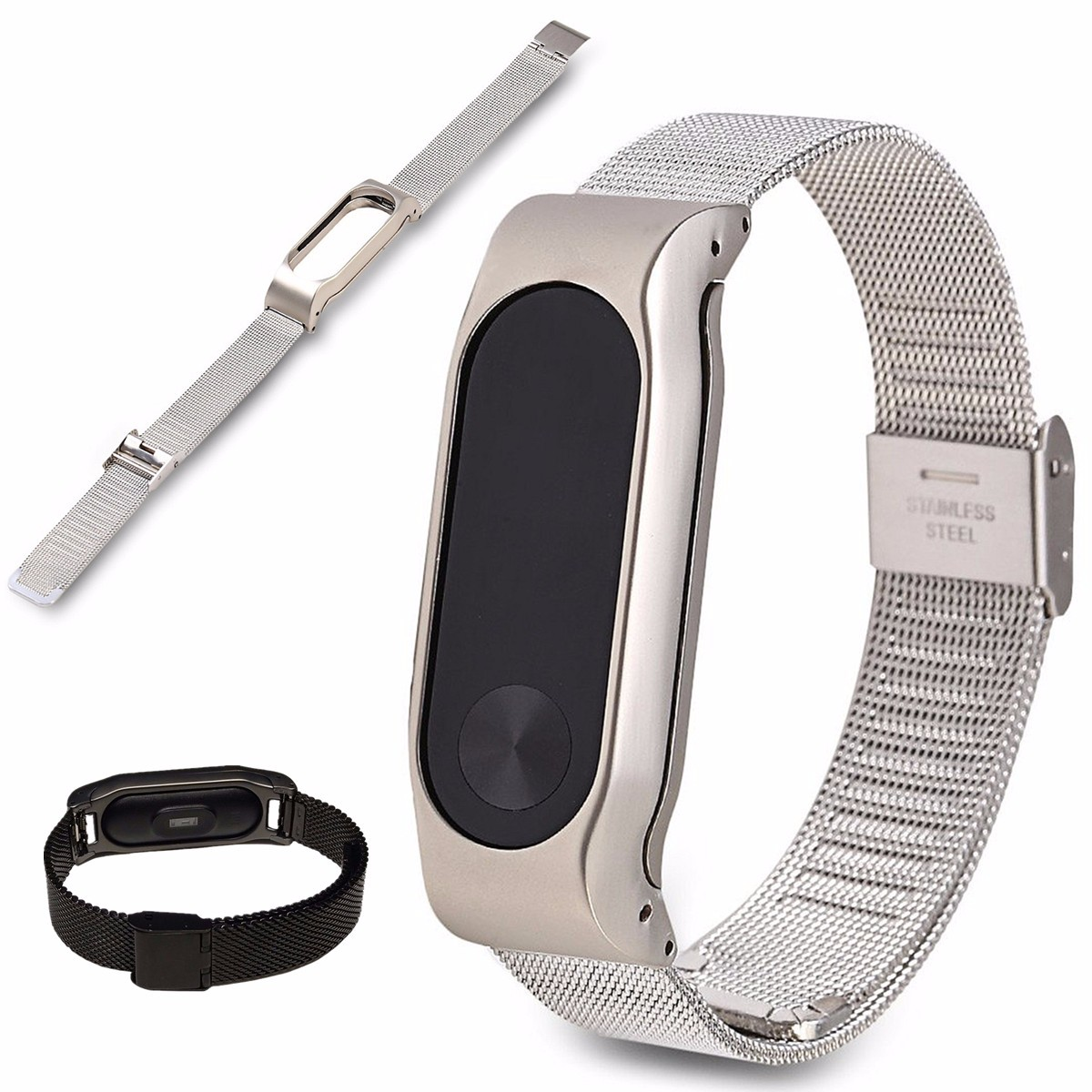 Replacement Stainless Steel Frame Bracelet Wristband For Xiaomi Mi Band 2 4e28bb81 Dc6d 47be A5de F307fe20cb6b