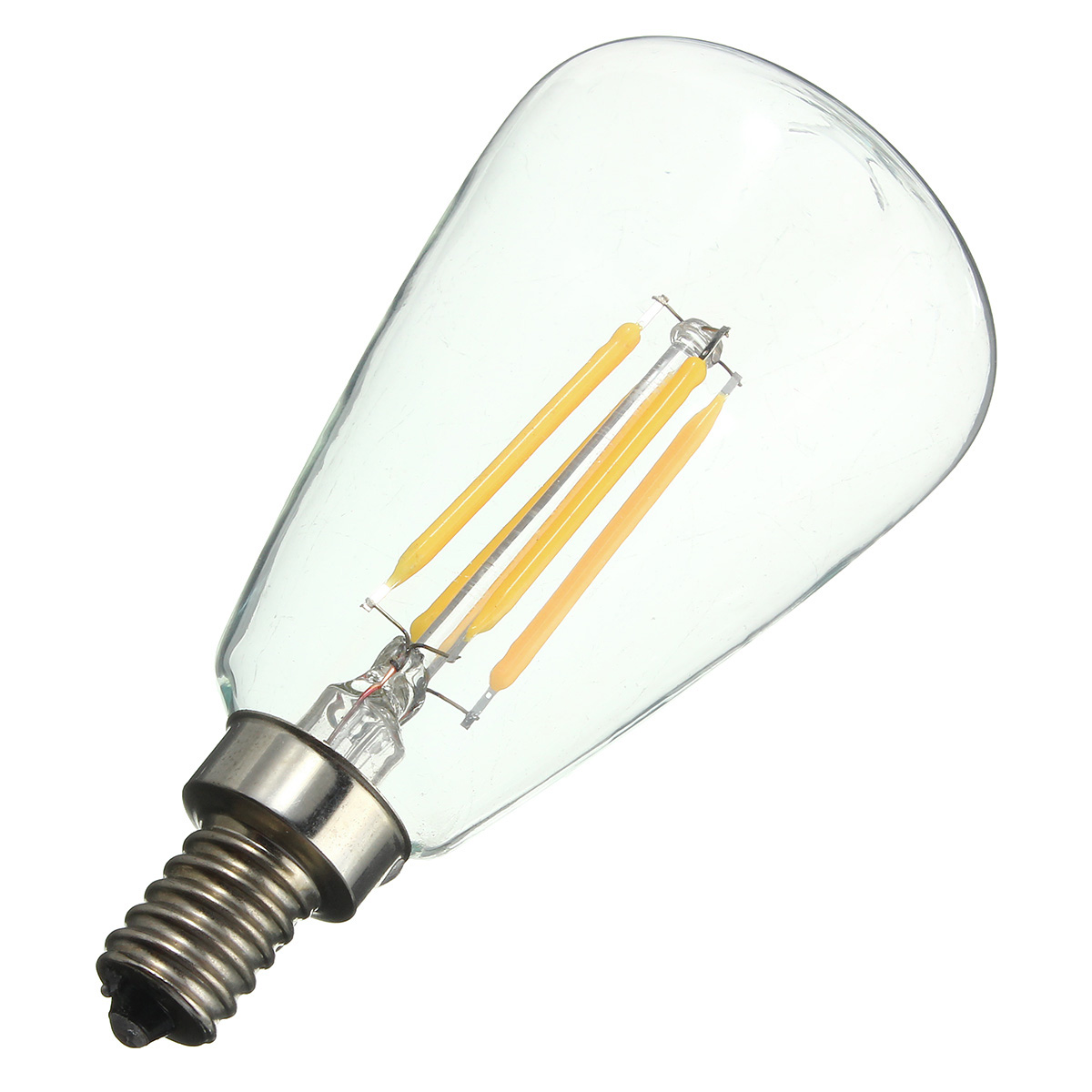 Retro E12 4W Edison Filament Bulb LED Warm White Pure ...