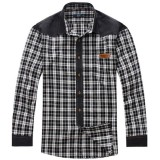 Big Size XL-6XL Plaid Spring Autumn Long-sleeved Men Loose Cotton Shirt