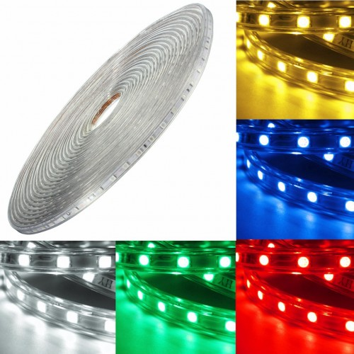 Outdoor Waterproof Solar Led Strip Light Smd 5050 5m: 220V 14M 5050 LED SMD Outdoor Waterproof Flexible Tape