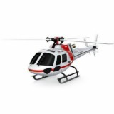 XK K123 BNF AS350 Scale 2.4G 6CH Brushless 3D6G System 3-Rotor RC Helicopter BNF (3.7V 500mAh Battery) Red & White