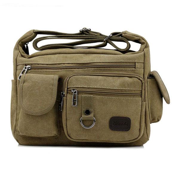 edb932126d Large Capacity Men Casual Canvas Shoulder Messenger Bag Travel Cross Body  Bag. ac676365-a116-4634-8142-e9b062cb4e7d.jpg ...