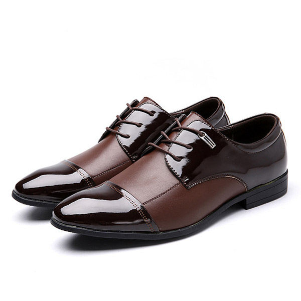 big size lace up formal shoes soft leather business