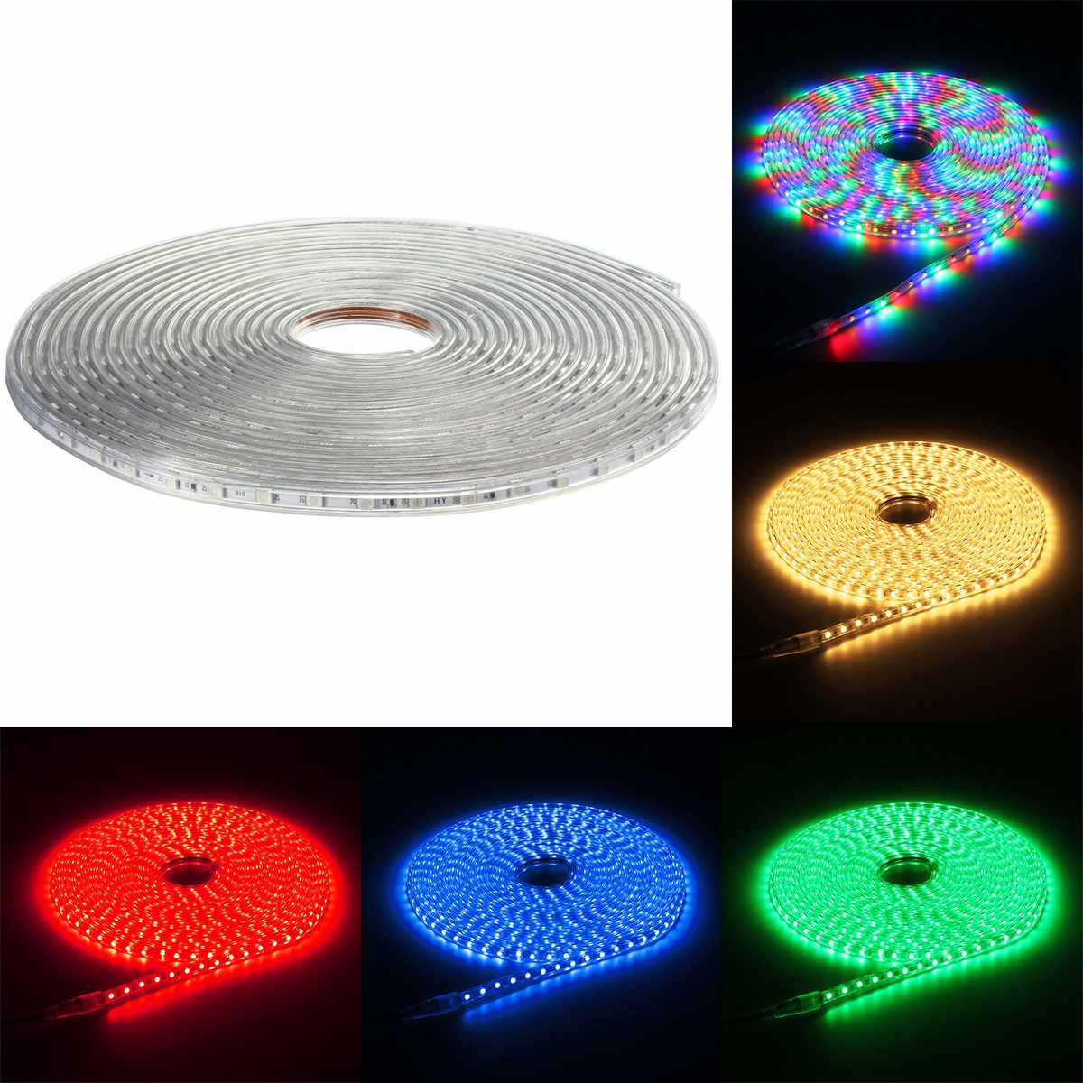 Outdoor 5050 Tape Light: 220V 13M 5050 LED SMD Outdoor Waterproof Flexible Tape