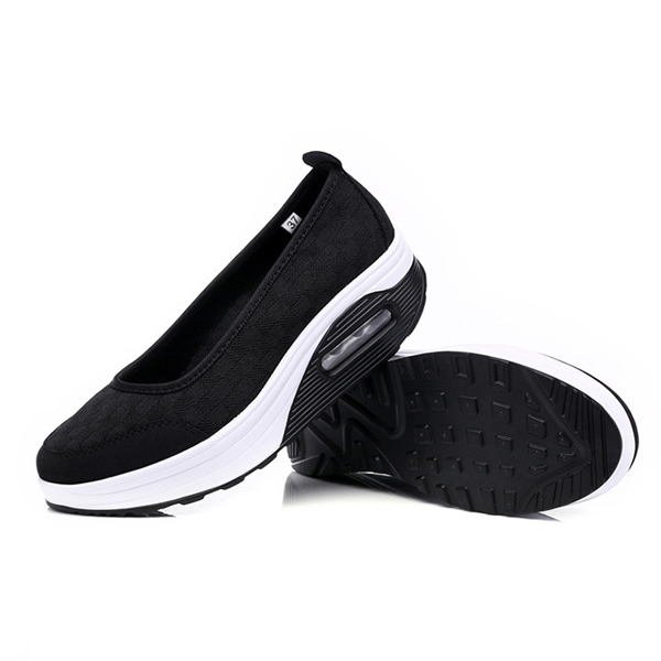 Mesh Rocker Sole Shoes Health Shoes Slip On Outdoor Athletic Sport Shoes