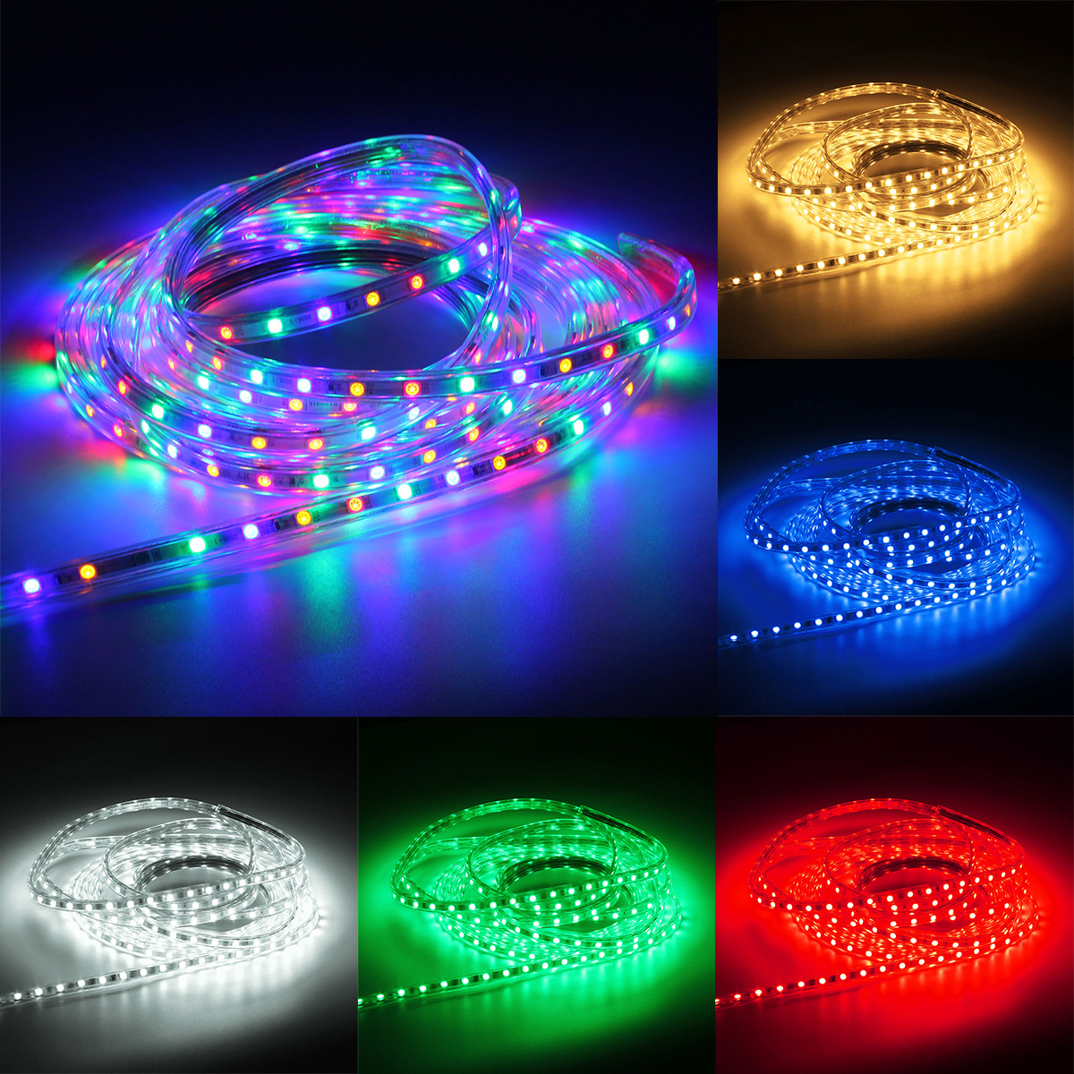 Outdoor Waterproof Tape Lights: 220V 7M 5050 LED SMD Outdoor Waterproof Flexible Tape Rope